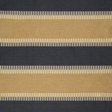 Camel/Indigo Stripes Decorator Fabric by Lee Jofa