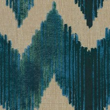 Aqua Flamestitch Decorator Fabric by Lee Jofa
