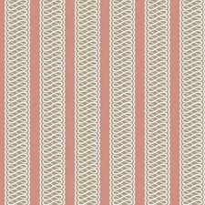Pink/Grey Stripes Decorator Fabric by Lee Jofa