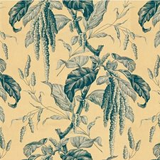 Oyster/Blue Toile Decorator Fabric by Lee Jofa