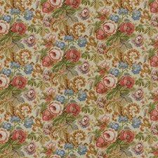 Pink/Cream Print Decorator Fabric by Lee Jofa