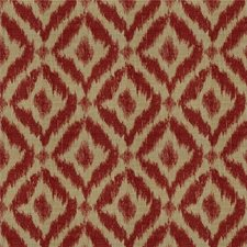 Red/Beige Diamond Decorator Fabric by Lee Jofa