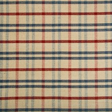 Blue Check Upholstery Fabric By Lee Jofa