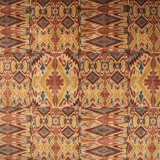 Ruby/Gold Print Decorator Fabric by Lee Jofa