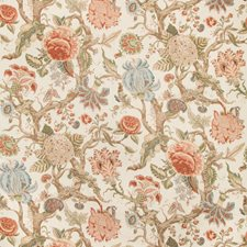 Coral Botanical Decorator Fabric by Lee Jofa