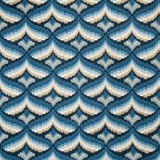 Indigo Geometric Decorator Fabric by Lee Jofa