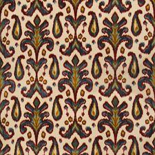 Red/Blue Damask Decorator Fabric by Lee Jofa