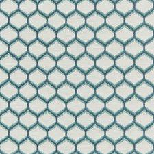 Aqua Bargellos Decorator Fabric by Lee Jofa