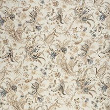 Brow/Navy Botanical Decorator Fabric by Lee Jofa