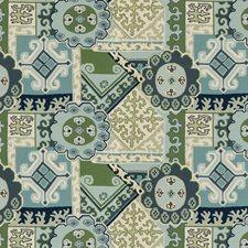 Aqua/Leaf Modern Decorator Fabric by Lee Jofa