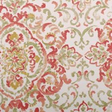 Rose/Green Damask Decorator Fabric by Duralee