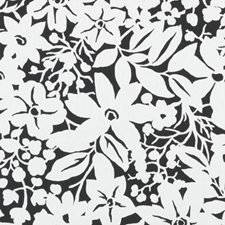 Black Floral Upholstery Fabric By Duralee