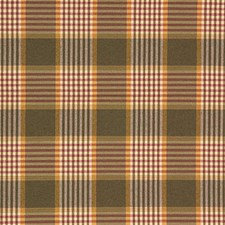 Green/Burgundy/Red Plaid Decorator Fabric by Kravet