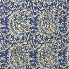 Tiel Blue Decorator Fabric by RM Coco
