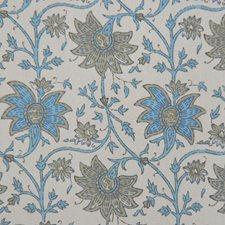 Aqua Grey Decorator Fabric by RM Coco