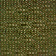 Green/Burgundy/Red Diamond Decorator Fabric by Kravet