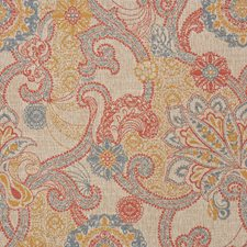 Paisley Red Decorator Fabric by RM Coco