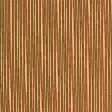 Green/Yellow/Rust Stripes Decorator Fabric by Kravet