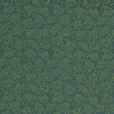 Green/Yellow Novelty Decorator Fabric by Kravet