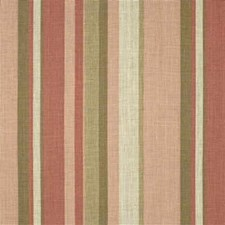 Coral/Sand Stripes Decorator Fabric by Groundworks