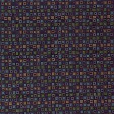 Purple/Light Blue/Rust Geometric Decorator Fabric by Kravet