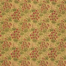 Lacquer Red Botanical Decorator Fabric by Kravet