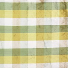 Yellow/Gold/Green Plaid Decorator Fabric by Kravet