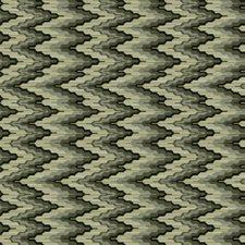 Pesto Flamestitch Decorator Fabric by S. Harris