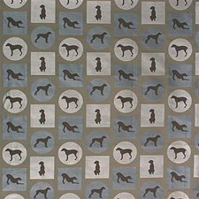 Brown/Blue Animal Decorator Fabric by Kravet