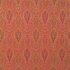 Rust/Multi Damask Decorator Fabric by Kravet