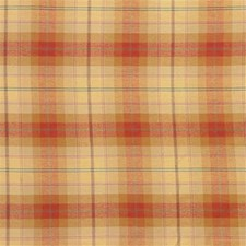 Yellow/Rust/Green Plaid Decorator Fabric by Kravet