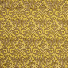 Modern Gold Damask Decorator Fabric by Fabricut