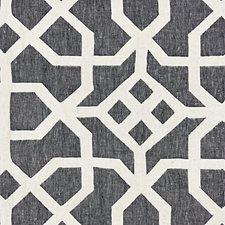 Indigo/Greige Decorator Fabric by Scalamandre