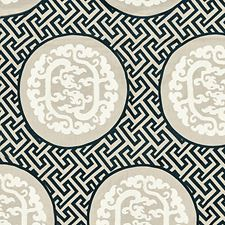 Black/Tan Decorator Fabric by Scalamandre