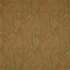 Green/Rust/Beige Paisley Decorator Fabric by Kravet