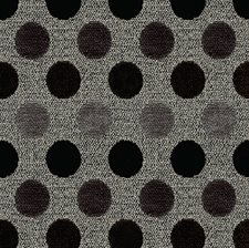 White/Black/Grey Dots Decorator Fabric by Kravet