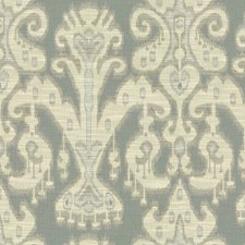 Light Blue/Beige/Light Green Ethnic Decorator Fabric by Kravet