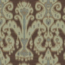 Brown/Light Blue/Light Green Ethnic Decorator Fabric by Kravet