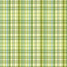 White/Light Blue/Green Plaid Decorator Fabric by Kravet