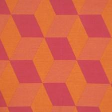 Citrus Berry Geometric Decorator Fabric by Fabricut