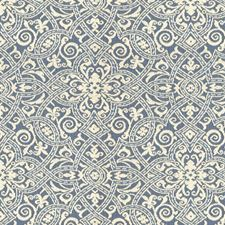 Blue/White Damask Decorator Fabric by Kravet