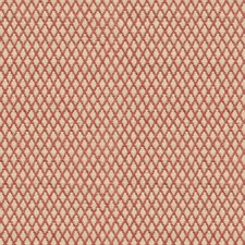Beige/Burgundy/Red Diamond Decorator Fabric by Kravet