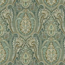 Beige/Blue/Green Ethnic Decorator Fabric by Kravet