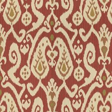 Burgundy/Red/Beige Ikat Decorator Fabric by Kravet