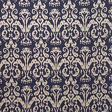 Classic Navy Ikat Decorator Fabric by Kravet