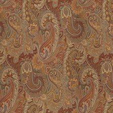 Yellow/Blue/Orange Paisley Decorator Fabric by Kravet