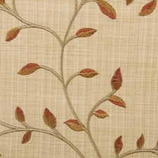 Nutmeg Embroidery Decorator Fabric by Duralee