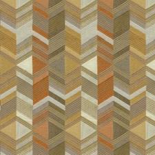 Grey/Orange/Yellow Ikat Decorator Fabric by Kravet