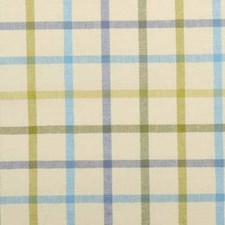 Blue/Avocado Plaid Decorator Fabric by Duralee