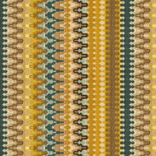 Blue/Yellow/Beige Ikat Decorator Fabric by Kravet